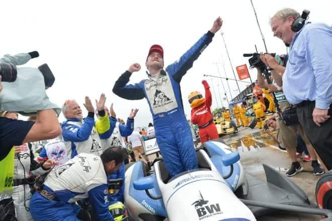 2014 IndyCar Houston Race 1 Huertas woohoo
