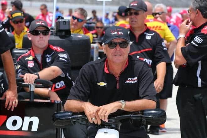 2014 IndyCar Texas Rick Mears pit lane