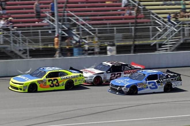 2014 Michigan I NNS Paul Menard Joey Logano Ty Dillon racing CIA