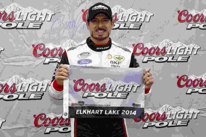 2014 Road America NNS Alex Tagliani pole credit NASCAR via Getty Images