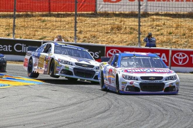 2014 Sonoma CUP AJ Allmendinger DAle Earnhardt Jr racing CIA