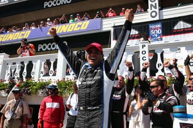 2014 IndyCar Pocono Montoya woohoo
