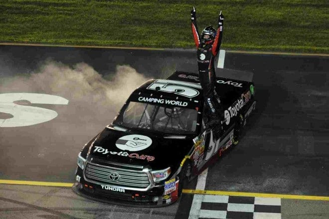 2014 Iowa CWTS Erik Jones woohoo credit NASCAR via Getty Images