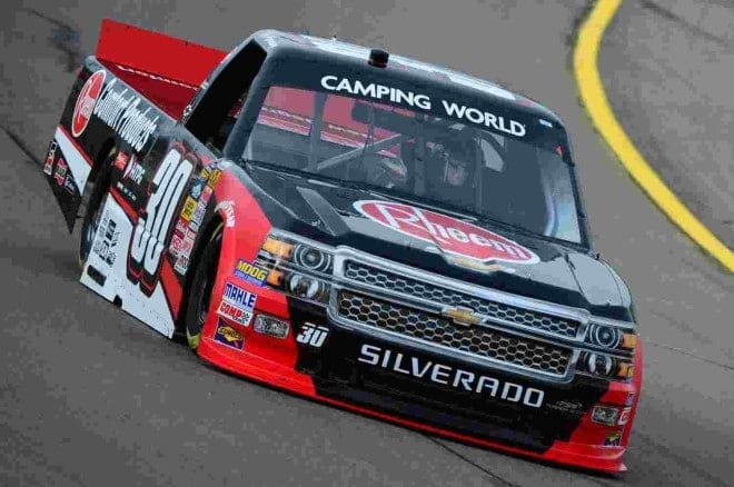 2014 Iowa CWTS Ron Hornaday Jr truck credit NASCAR via Getty Images
