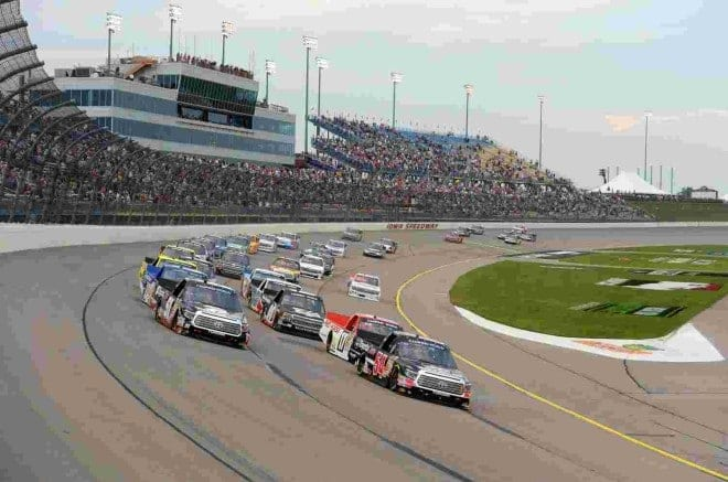 2014 Iowa CWTS pack racing credit NASCAR via Getty Images