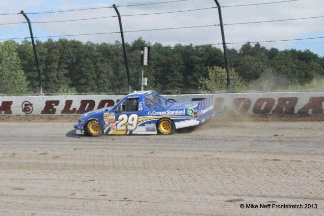 Ryan Blaney Qualifying in 2013 at Eldora Speedway Camping World Trucks Mike Neff