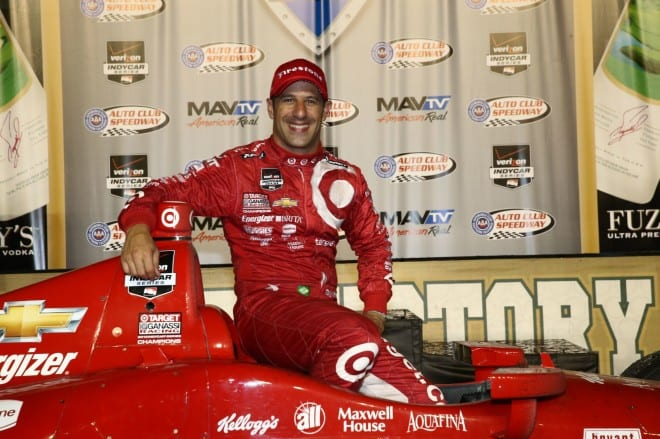 2014 IndyCar Auto Club Tony Kanaan victory lane