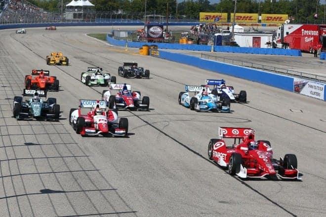 2014 IndyCar Milwaukee parade laps