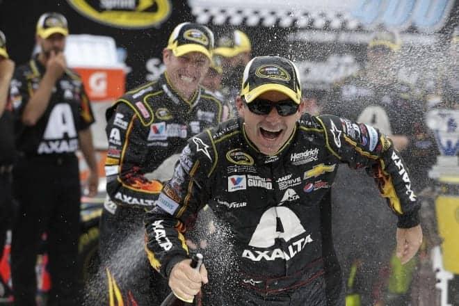 2014 Michigan II CUP Jeff Gordon champagne II CIA