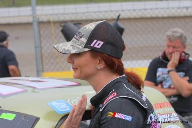 2014 Mudsummer Classic Eldora Speedway Jennifer Jo Cobb Camping World Trucks Mike Neff 291