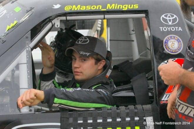 2014 Mudsummer Classic Eldora Speedway Mason Mingus Camping World Trucks Mike Neff 275