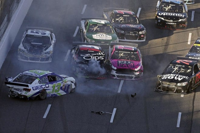 2014 Martinsville Cup Martin Truex Jr. Casey Mears Kasey Kahne Brian Vickers More Wreck Credit CIA