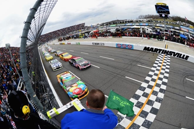 Martinsville Speedway Green Flag NASCAR via Getty Images