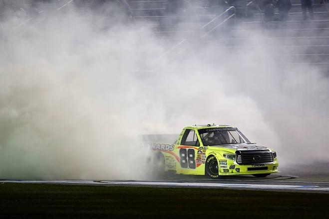 2015 Atlanta CWTS Matt Crafton burnout credit NASCAR via Getty Images