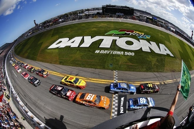 2015 Daytona I CUP green flag credit NASCAR via Getty Images