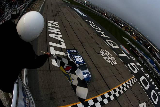 2015 Atlanta CUP Jimmie Johnson wins credit NASCAR via Getty Images