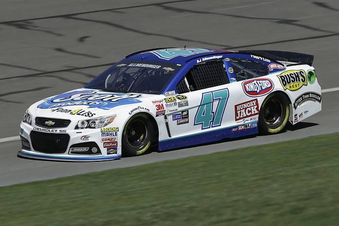 2015 Fontana CUP AJ Allmendinger car credit NASCAR via Getty Images