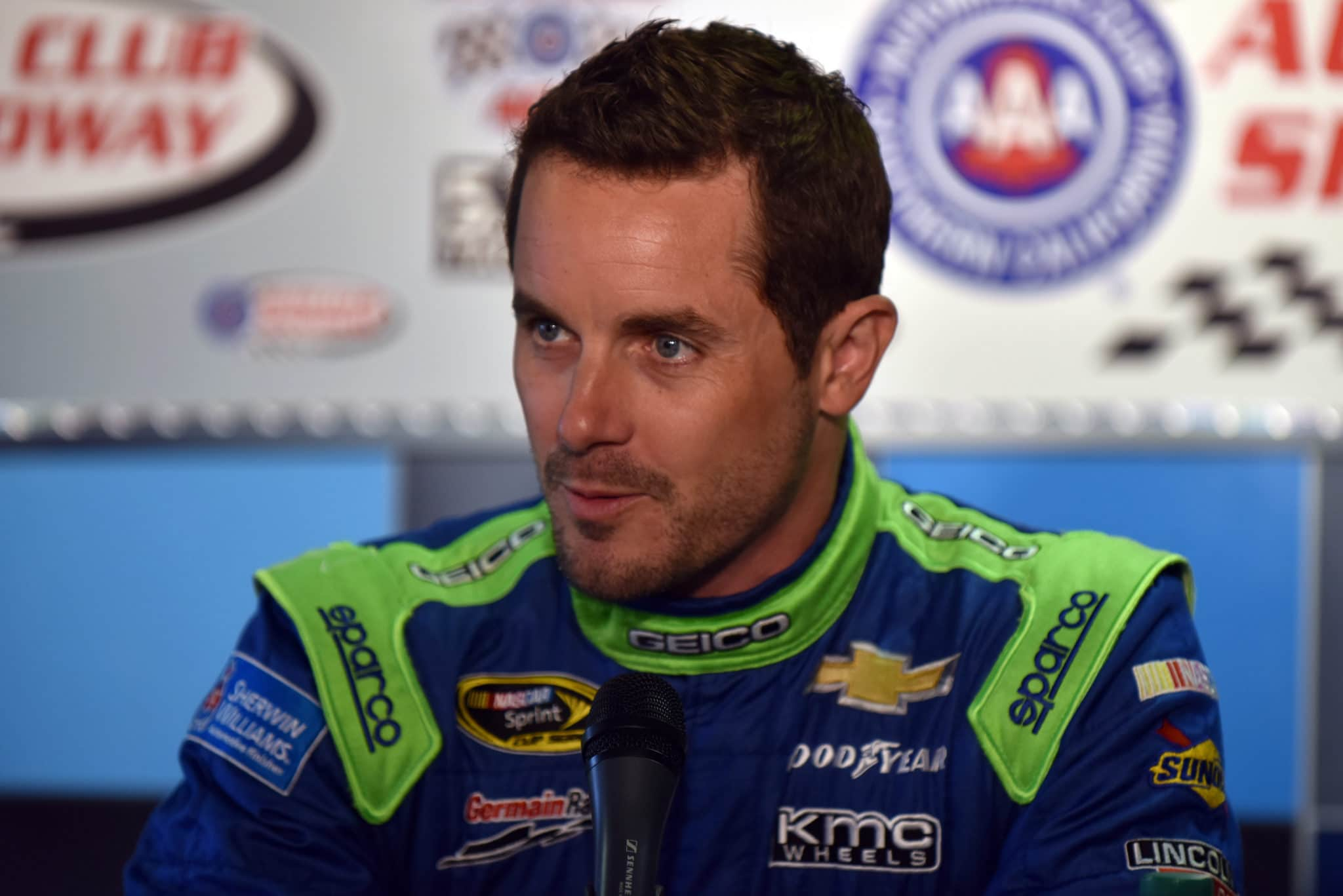 2015 Fontana CUP Casey Mears credit NASCAR via Getty Images