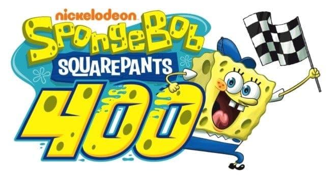Spongebob Squarepants 400 Logo Kansas Speedway Credit Nickelodeon