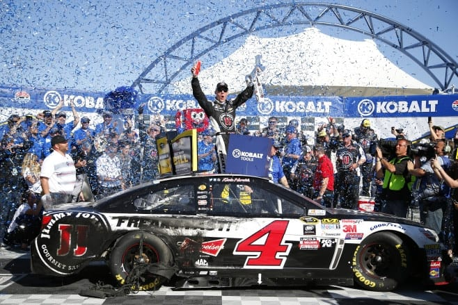 kevin harvick victory lane las vegas nscs getty images