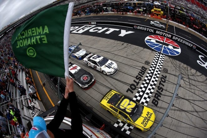 2015 Bristol I CUP green flag credit NASCAR via Getty Images