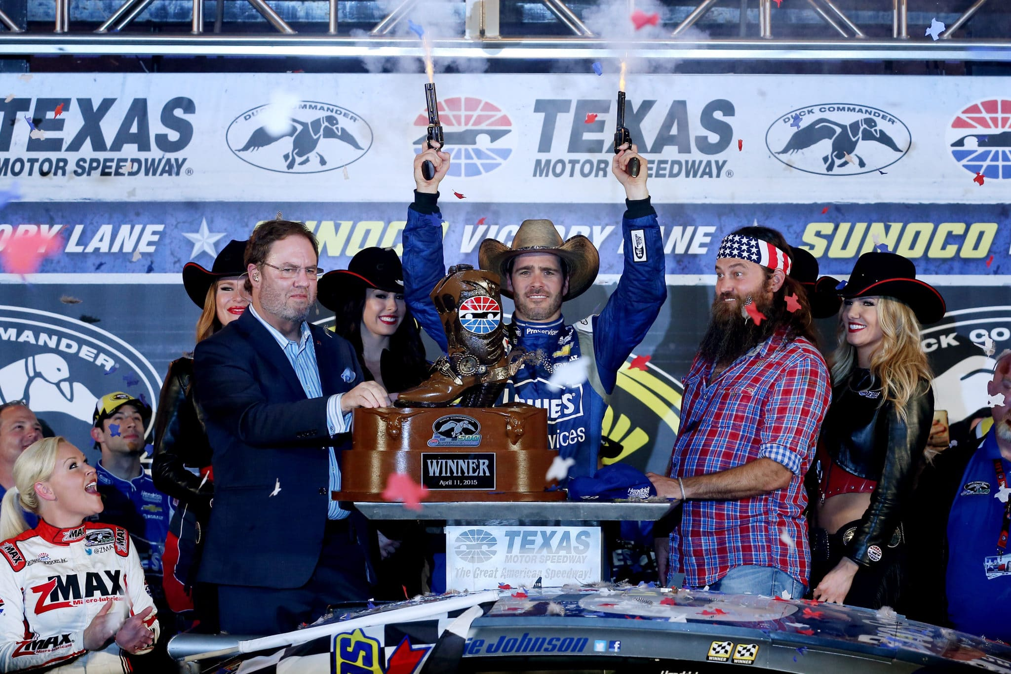 2015 Texas I CUP Jimmie Johnson six guns credit NASCAR via Getty Images
