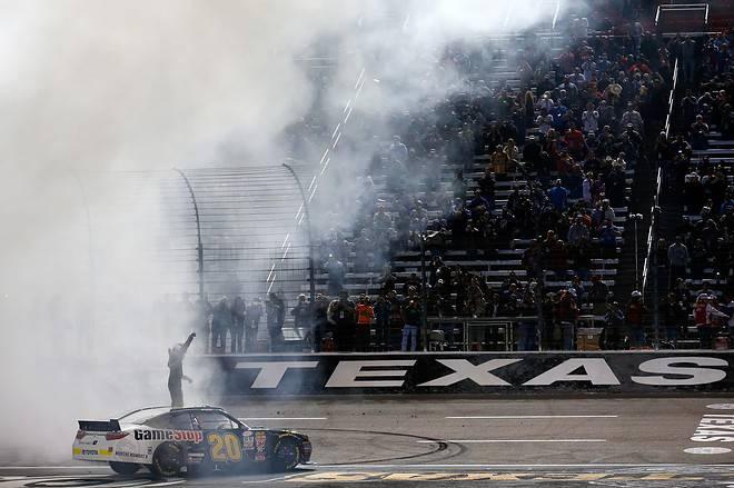 2015 Texas I NNS Erik Jones celebrates credit NASCAR via Getty Images