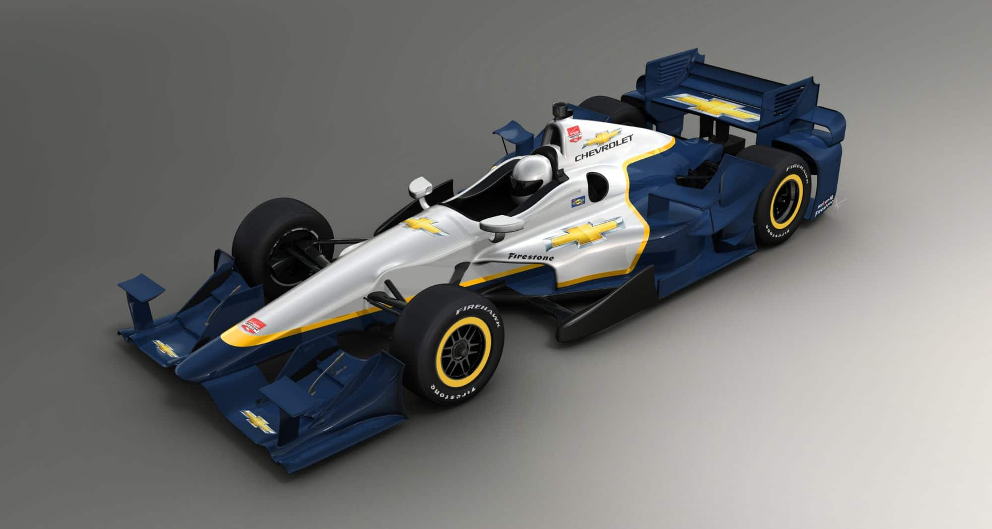 IndyCar 2015 Chevrolet Aero Kit for road and street top view Courtesy IndyCar media