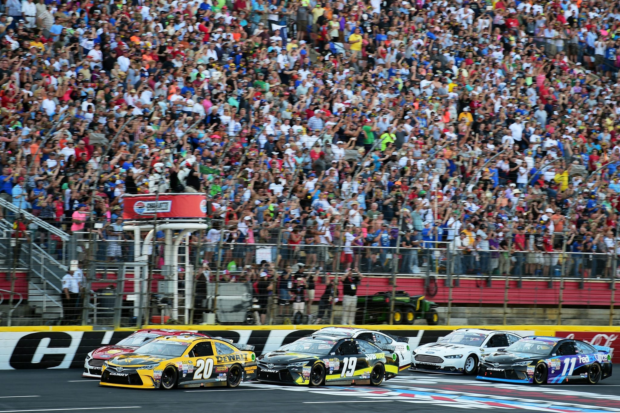 2015 Charlotte I CUP green flag credit NASCAR via Getty Images