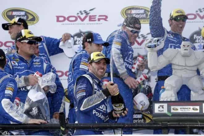 2015 Dover I CUP Jimmie Johnson champagne CIA e1433290629200