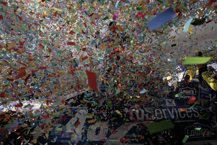 2015 Dover I CUP Jimmie Johnson confetti explosion CIA