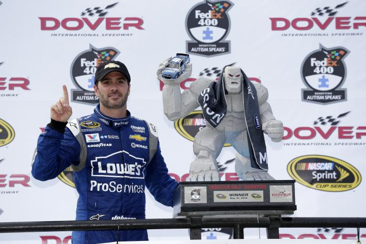 2015 Dover I CUP Jimmie Johnson trophy CIA