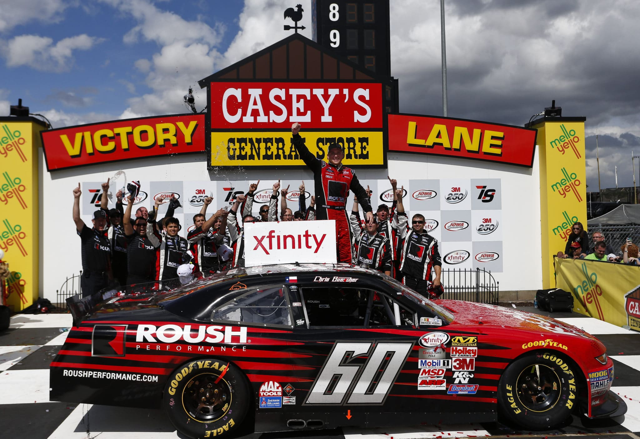 2015 Iowa I NXS Chris Buescher victory lane credit NASCAR vis Getty Images