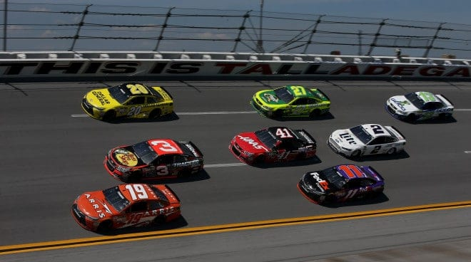 2015 Talladega I CUP pack racing III credit NASCAR via Getty Images e1444969841121
