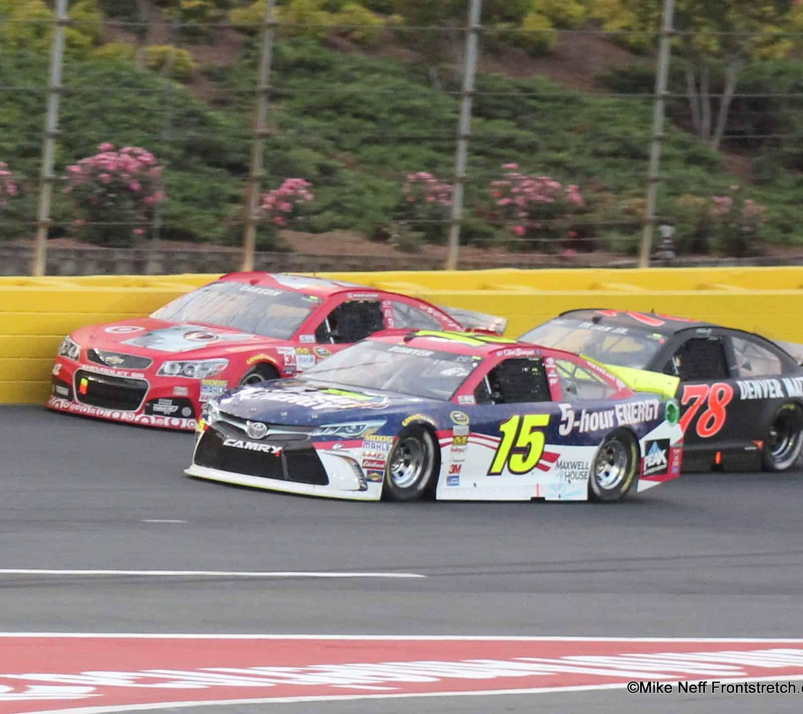 Clint Bowyer Martin Truex Jr Kyle Larson Cup Sprint Showdown 2015 Charlotte Mike Neff