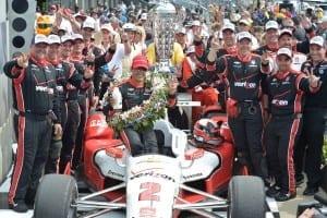 IndyCar 2015 Indy Montoya and team victory credit Chris Owens