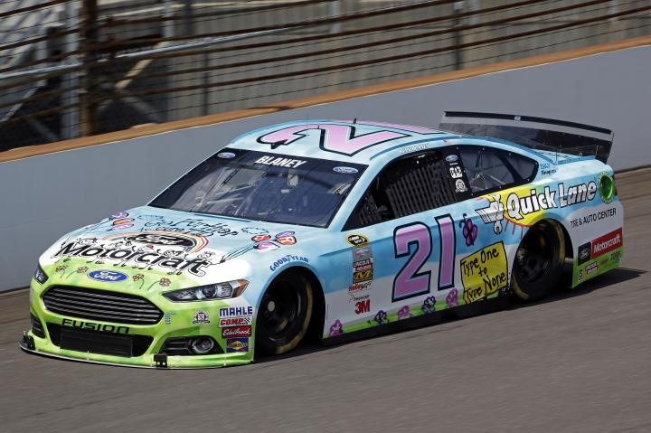 2015 Indianapolis CUP Ryan Blaney car CIA