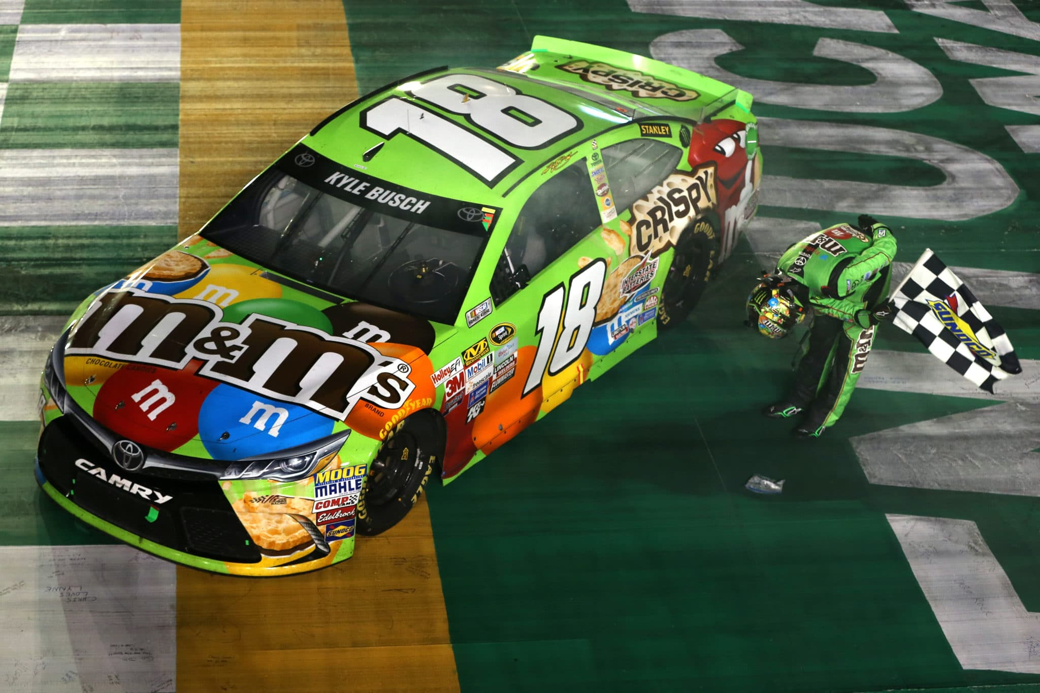 2015 Kentucky CUP Kyle Busch bow credit NASCAR via Getty Images