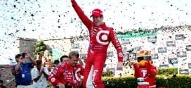 Scott Dixon at Sonoma celebrating his win and championship (credit: INDYCAR)