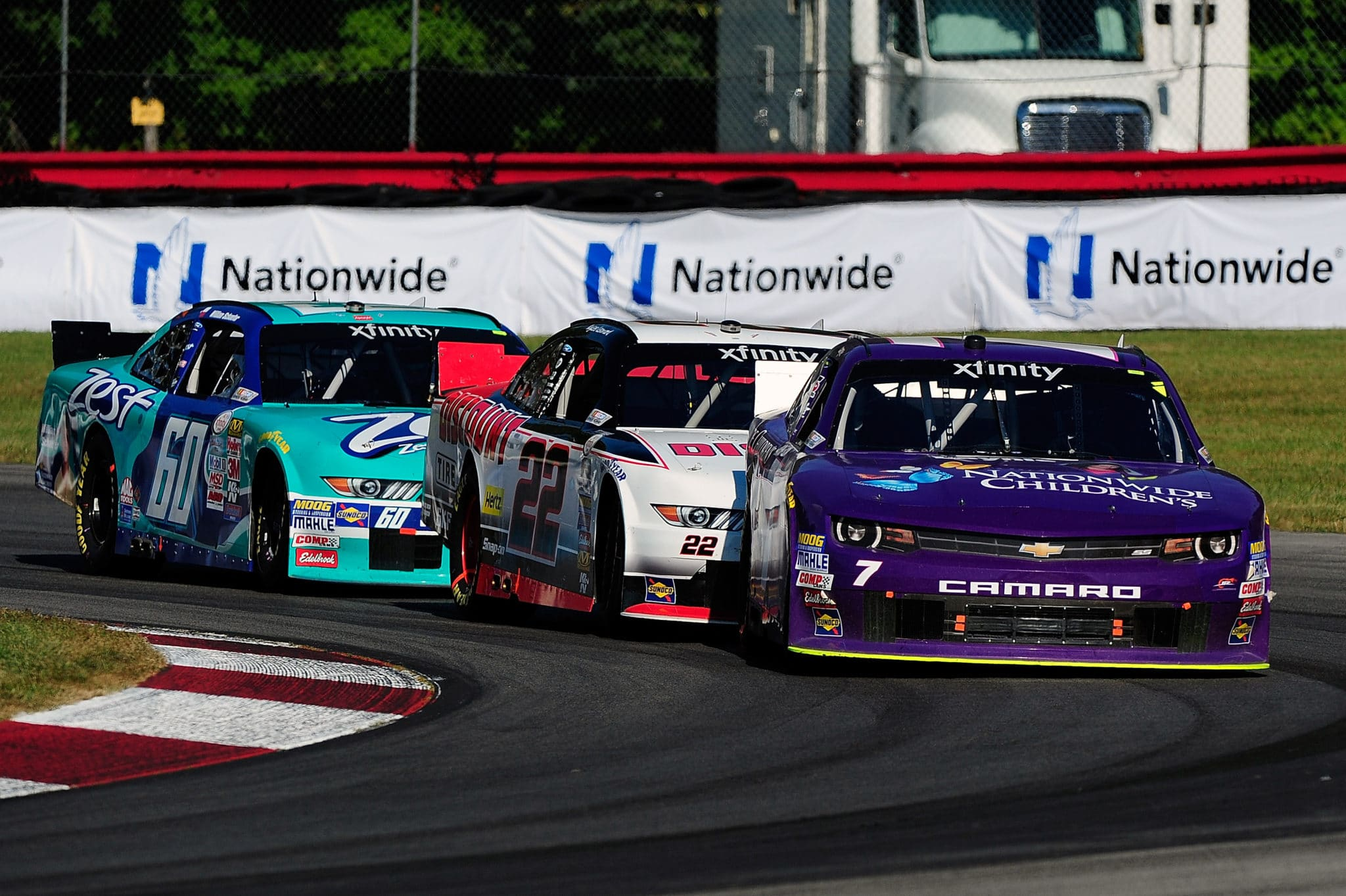 Regan Smith in front at Mid-Ohio in the XFINITY series