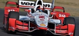 Juan Pablo Montoya on track at Sonoma (credit: IndyCar)