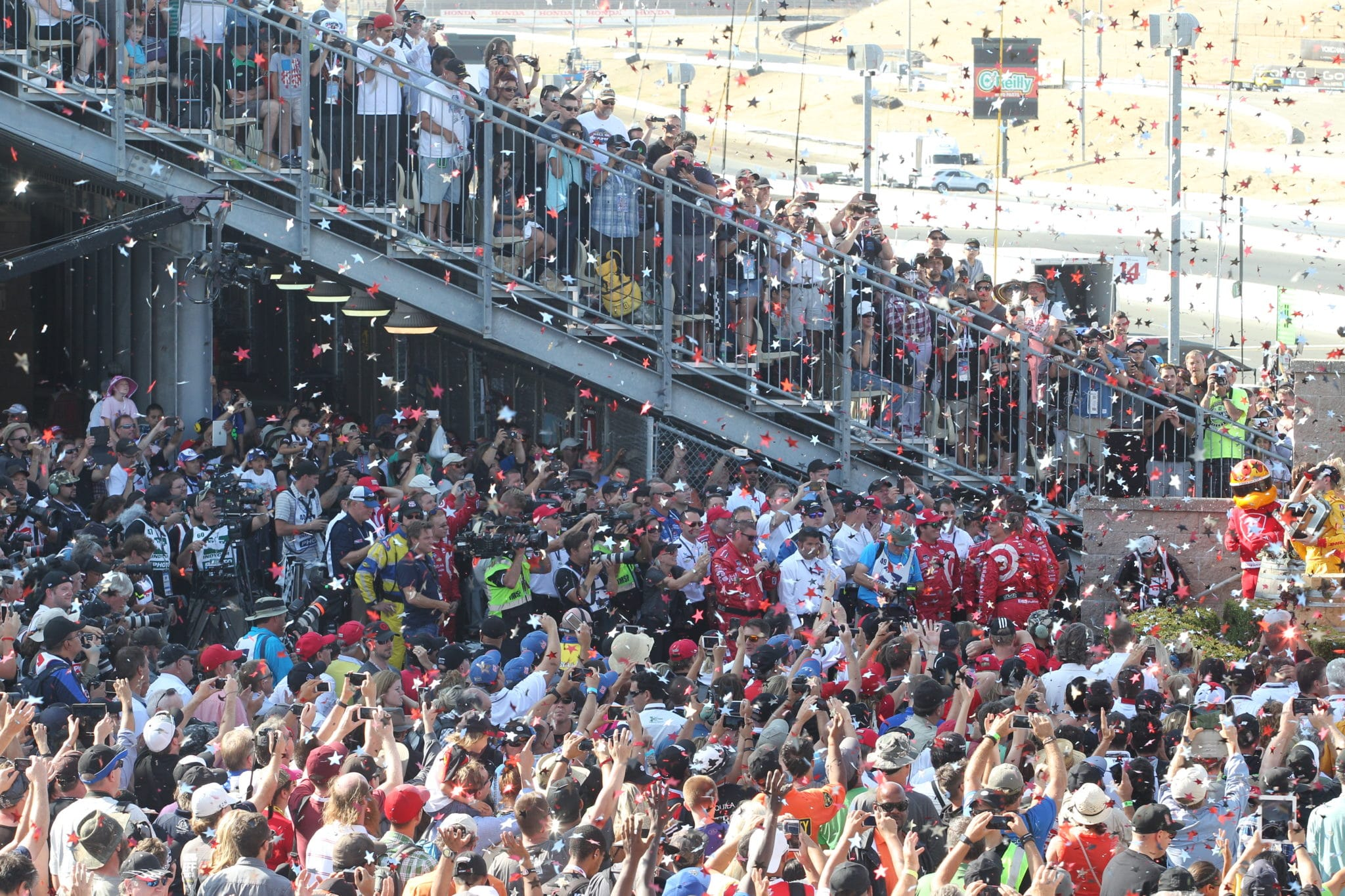 Crowd shot at Sonoma Raceway for the IndyCar finale in 2015 (credit: IndyCar)