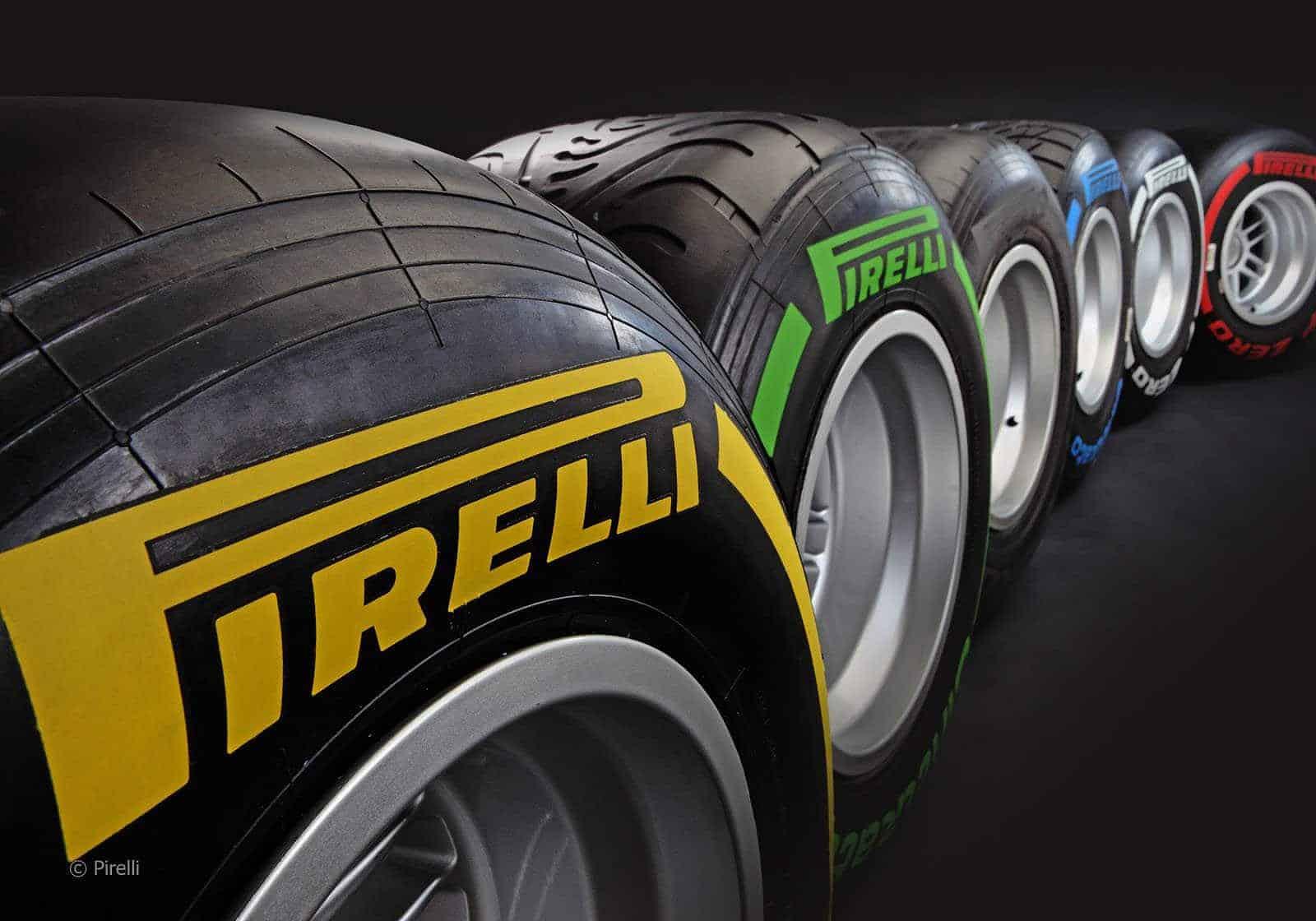 Pirelli tyres, tires, in the studio (credit: Pirelli)