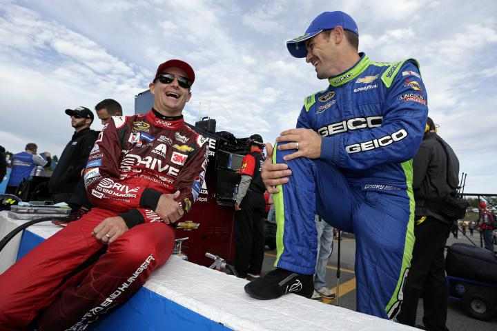 2015 Loudon II CUP Jeff Gordon Casey Mears laughing CIA