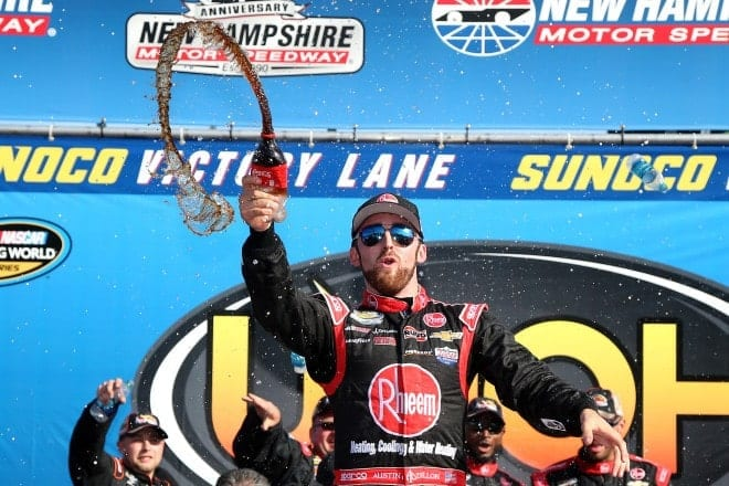 2015 New Hampshire Motor Speedway NCWTS Austin Dillon woohoo victory lane NASCAR via Getty Images