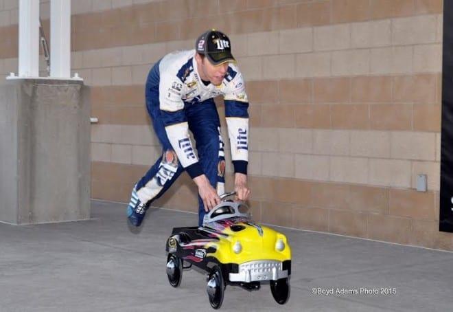 2015 Cup Kansas Speedway Brad Keselowski Pedal Car Boyd Adams