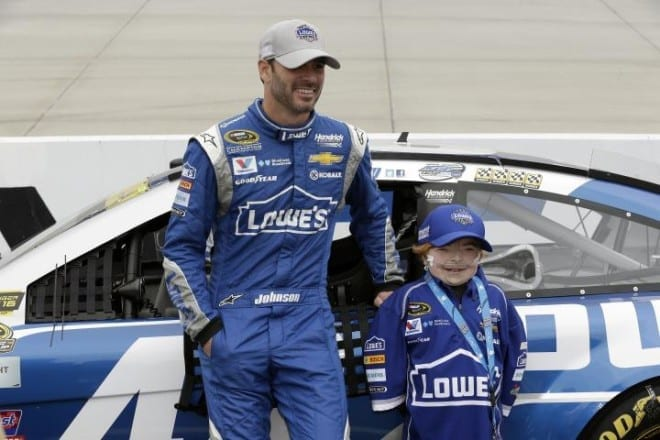 2015 Dover II CUP Jimmie Johnson kid guest CIA