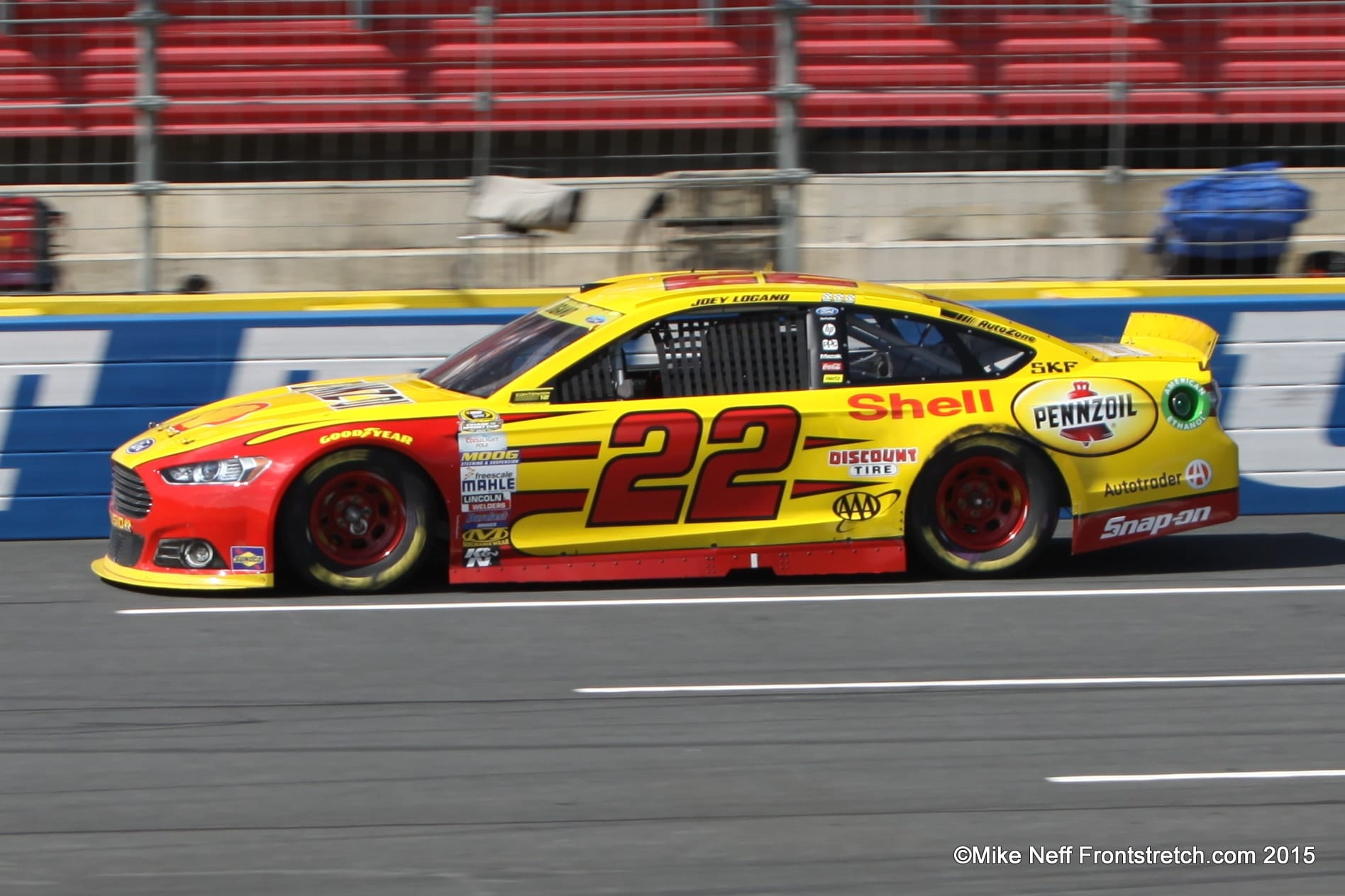 2015 Joey Logano Bank of America 500 Charlotte Cup Mike Neff