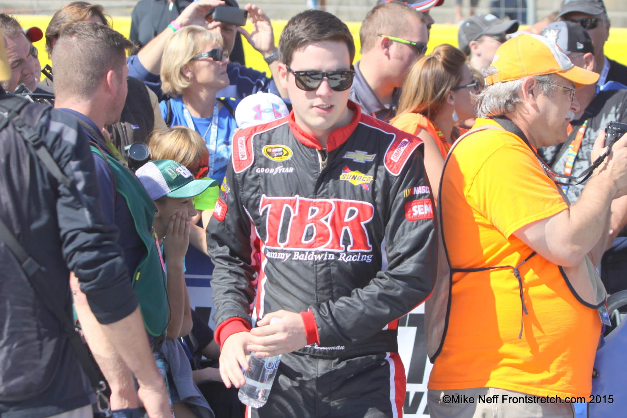 Alex Bowman Bank of America 500 2015 Charlotte Cup Mike Neff