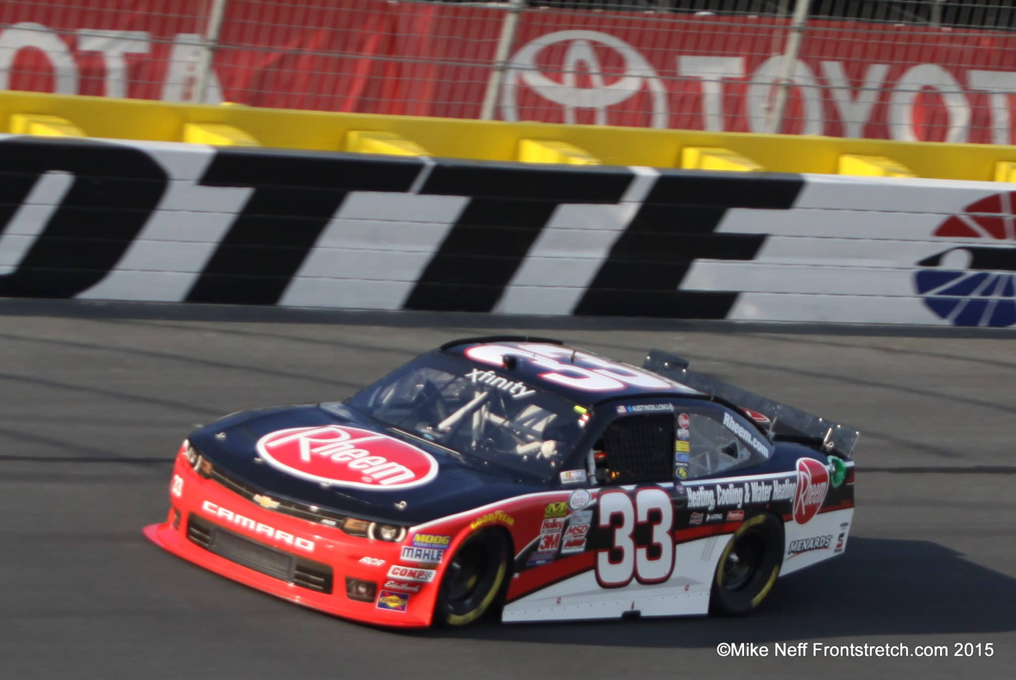 Austin Dillon Race for the Cure 300 Charlotte 2015 Mike Neff
